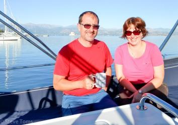 Chris and Liba with morning cuppa