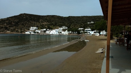 Looking along the beach